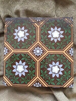 Victorian Gothic Revival Antique Encaustic Tile Minton Hollins Pugin