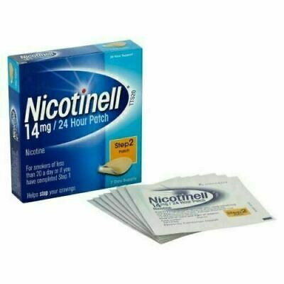 Nicotinell 14mg/24 Hour Nicotine Patch Step 2 Patch 7Day Supply Smoking BB 09.19