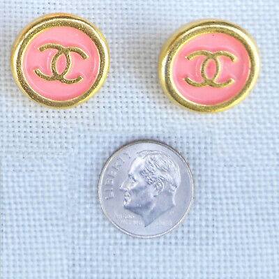 Iconic Pink and Gold Chanel Buttons ~ Authentic ~ Chanel Buttons