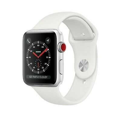 Apple Series 3 Watch White Sport Band Stainless Steel Gps + Cellular Factory Sea