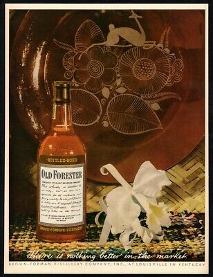 1944 OLD FORESTER Kentucky Straight Bourbon Whiskey - WWII Era  VINTAGE AD