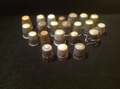 Sterling Silver Thimbles 3. With Other Kinds Of Metal. Lot Of 22