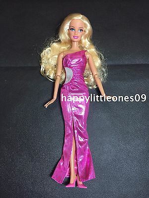 Brand New Pink Barbie Doll Wedding Party Evening Dress/Clothes/Outfit with Shoes