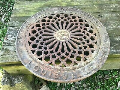 Antique Cast Iron Coal Hole Cover Manhole Cover Snead & Co Old Louisville Ky