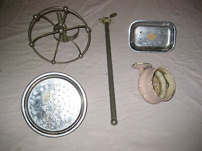 Antique Various Bathroom Nickel On Brass Fixtures Soap,Sponge,Towel Rack,Shower