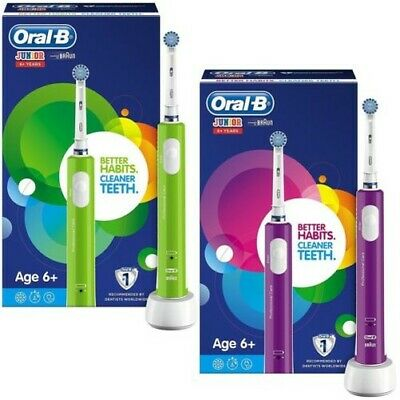 Oral-B Junior Kids Electric Toothbrush Rechargeable for Children 6+ (2 Colours)