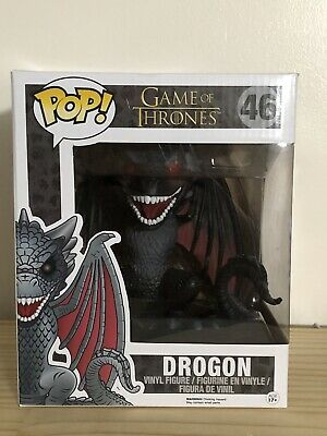 Funko POP! Red Eyes Drogon #46 Hot Topic Exclusive Game of Thrones NO STICKER