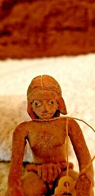 Rare  PRE- COLUMBIAN ARTIFACT XALITLA. XOCHIPALA Seated Female Figure   AUTHEN