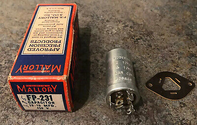 Mallory FP-231 Capacitor 10-10 MFD. 450v New In Box