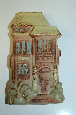 "Vintage Wall Pocket 4"" wide x 7"" tall - 2 Story House Building"