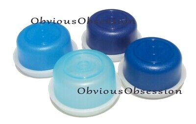 Tupperware Smidgets Pill Box Container Set 4 Mini Bowls Shades of Blue
