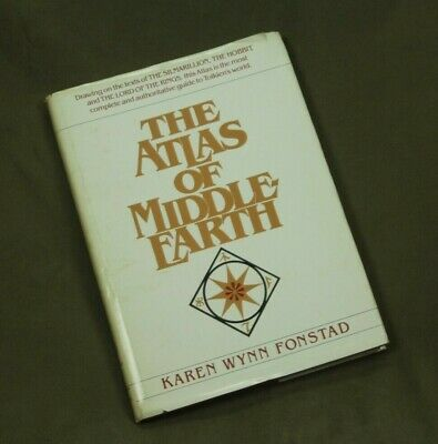 Atlas of Middle Earth First Edition 1981 Fonstad Hardcover Tolkien