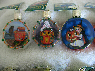 """3"" Halloween Ornaments,Inside Art,Owc,Witch,Ghost,Pumpkin,Spider,My#B"