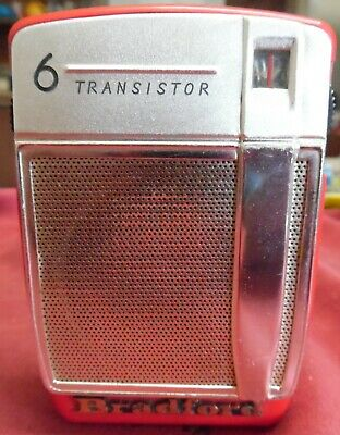Vintage 1963 Bradford Model #TR-1626 6 Transistor AM, CD, VGC Works!