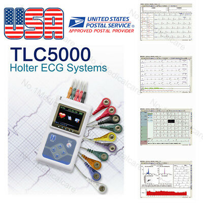 {USA]12 channel 24 hours Analyzer/Recorder, Dynamic holter,PC Software, FDA