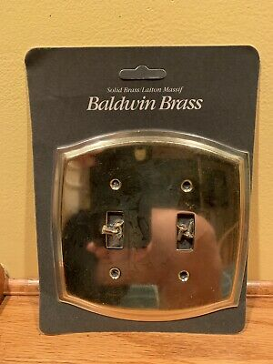 Vintage Baldwin solid  brass double switch plate cover The Lenox shop