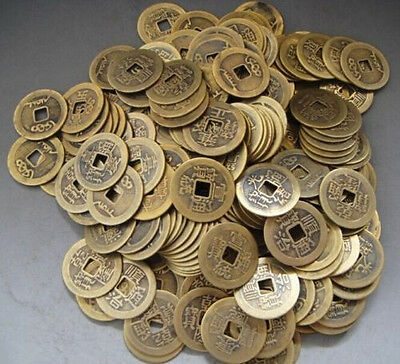 Collect 20pcs Chinese Brass Coin Qing Dynasty Antique Currency Cash