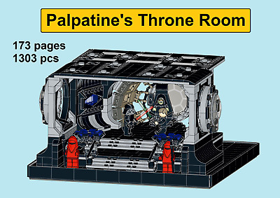 *custom* Lego Star Wars Snoke/'s Expanded Throne Room instruction manual only