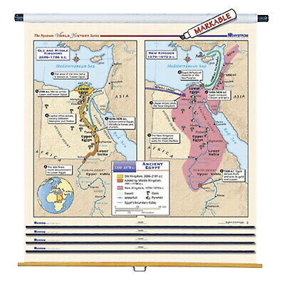 Nystrom Early World History Maps with Spring Roller, Set of 16