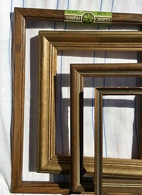 Lot 4 Vintage Art Deco Mid Century Wood Picture Frames~for Period Wall Groupings