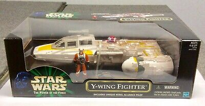 Y-WING FIGHTER Star Wars Power of the Force POTF Hasbro 1999 MISB