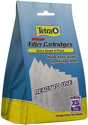 4 Pack Filter Cartridges Whisper Tetra XS Extra Small Sparkling Clean Water NEW