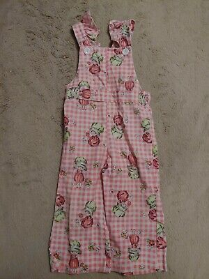 Vintage Health-Tex 2t Overalls Pink with little girl