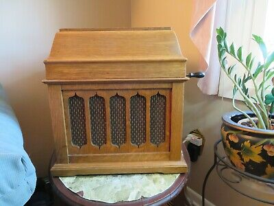 Edison Amberola 50 Phonograph,and 12 record cylinders, plays well