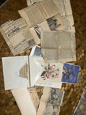 1939 German Newspaper Clippings/cards Lot Sale