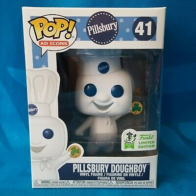 Official Eccc 2019 Sticker Funko Pop! Ad Icon Pillsbury Doughboy Shamrock Figure