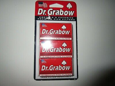 New Dr. Grabow 10 Premium Pipe Filters  3 Pack