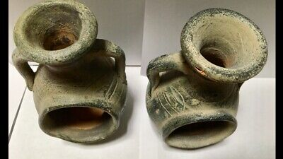 ANCIENT  POTTERY, SET of 2 POTS. VERY OLD. PLEASE CHECK PICTURES.