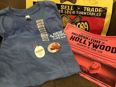 NWT New Beverly Cinema ONCE UPON... HOLLYWOOD Cliff Booth T-shirt L +BONUS ITEMS