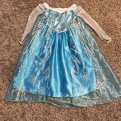 Disney Frozen Elsa Child Little Girls Costume Size Small 5-6 Long Sparkly