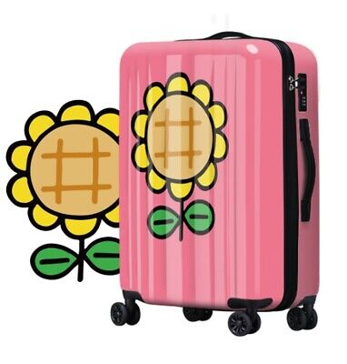 D125 Lock Universal Wheel Pink Sunflower Travel Suitcase Luggage 20 Inches W