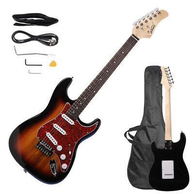 New Sunset Right-Handed Basswood Electric Guitar Set for Beginner