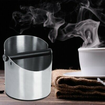 Stainless Steel Coffee Knock Box Espresso Coffee Grounds Container Waste Bin