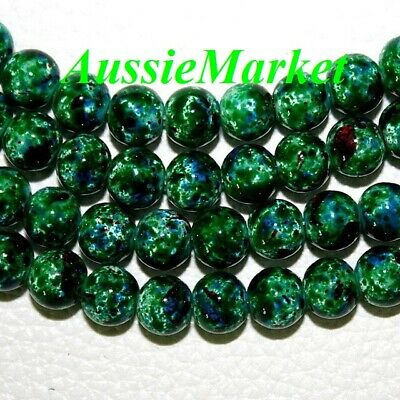 50 x glass beads green 8mm spacer ladies girls necklace bracelet making parts