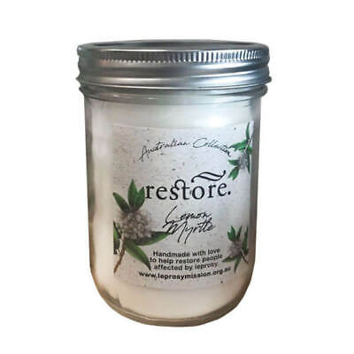 Restore Scented Candle Lemon & Myrtle