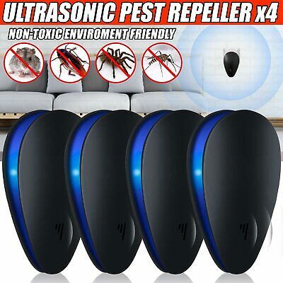 4Pcs Ultrasonic Pest Repeller Plug in Electronic Repellent Mouse Spider Mosquito