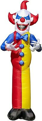 12 Ft Inflatable Scary Circus Clown Reaper Halloween Giant Yard Decor Party Prop