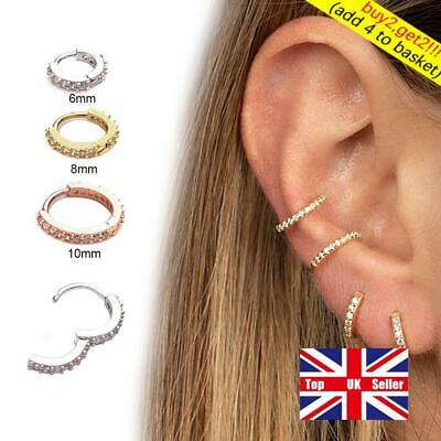 Ear Piercing Huggie Hoop Earring Nose Ring Helix Cartilage Tragus Body Jewelry