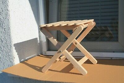 Antique New Kids Stool Small Wooden Children's Chair Convertible Steam Oak