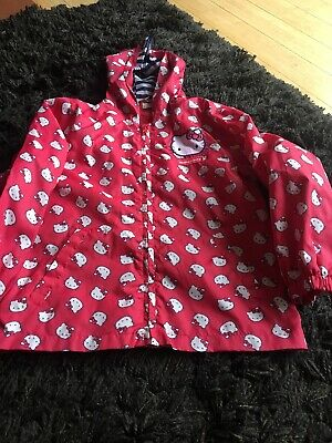 Girls Hello Kitty Raincoat Age 7-8