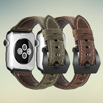Genuine Leather Band for Apple Watch iwatch Series 5/4/3/2/1 38mm 40mm 42mm 44mm