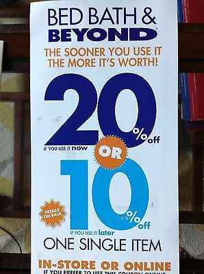 8 Bed Bath & Beyond coupons for 20% and $5 off $15 exp 11-04-19