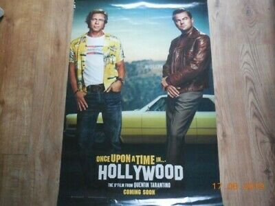 Original UK Cinema One Sheet Poster.~ ONCE UPON A TIME IN HOLLYWOOD (TARANTINO)