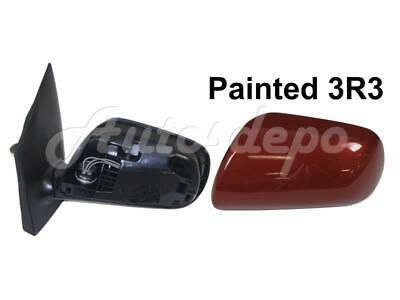RH For TOYOTA YARIS 4DR//HB 2007-2012 Mirror Cover Barcelona Red Metallic 3R3
