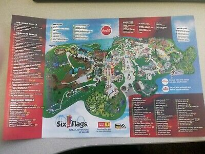 Six Flags Great Adventure New 2019 Park Map**Bonus Free***SHOWS & EVENTS GUIDE