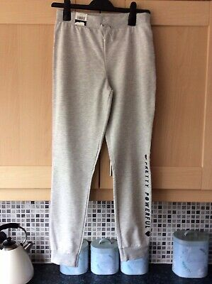 Girls Grey Jogging Bottoms With Elasticated Waist Age 12/13 From George New